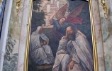 """Wnętrze kościoła na Wigrach, obraz pt. """"Sen św. Romualda"""""""