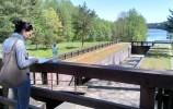 Największa dwukomorowa śluza Paniewo na Kanale Augustowskim
