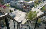 Wejście na taras widokowy wieży ciśnień w Gołdapi