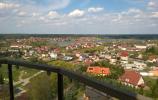 Widok na Gołdap z wieży ciśnień