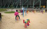 Plac zabaw przy tężniach solankowych w Gołdapi