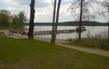 Molo nad jeziorem Gołdap