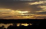 zachodzące słońce nad Klasztorem - widok od strony Mikołajewa