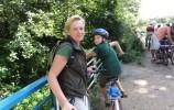 Rowerem przez las - most na rzece Kamionka, Wigierski PN - fot. Zbyszek Perkowski